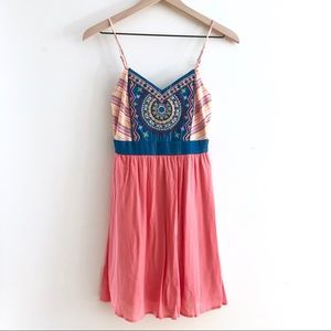 FLYING TOMATO Colorful Thin Strap Dress